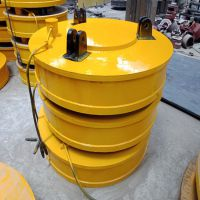 电磁吸盘MW5-150L磁力吊电磁吸盘 高频强磁起重机 叉车用