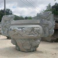 厂家直销大理石浮雕三足鼎青石仿古香炉石雕园林寺庙雕塑摆件