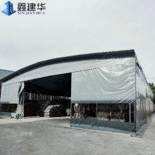 上海空中活动推拉雨棚电动效果图 虹口布伸缩雨篷 活动帐篷结构式