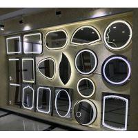 智能LED灯镜 铝合金边框防雾卫生间镜子 壁挂带灯化妆防雾浴室镜
