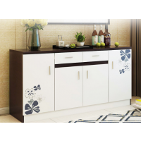 一件代发加大厨房餐边柜简约现代厨房柜餐厅柜简易多功能板式储物橱柜