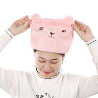 2472 卡通动物头干发帽超强头发速干包头巾 可爱成人加厚吸水浴帽