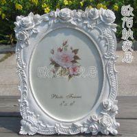 10吋纯白相框混批玫瑰田园树脂欧式相架高档镶钻影楼专供商务礼品