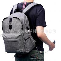 双肩包学生男女男韩版户外旅行书包爆款防盗电脑背包USB一件代发
