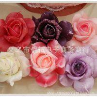 批发爆款金粉玫瑰花 鸡嘴泡沫玫瑰花头 婚房布置 花球制作