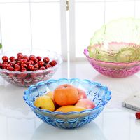 厨房茶几干果盘厂家直销 塑料防玻璃水果盘 加厚欧式透明收纳果盘