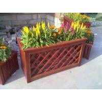 厂家HUX024实木花箱塑木花箱防腐木长方形花箱