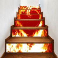 外贸热销星星之火爱之体验情人系列一代精雕3D创意楼梯贴墙贴地贴