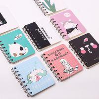 可爱动物卡通侧翻线圈本 随身迷你便携笔记本 口袋记事本
