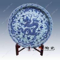 手绘青花大瓷盘 景德镇生产厂家 千火陶瓷