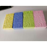 压纹pva方块棉/小孩软质搓澡棉厂家爆款直销