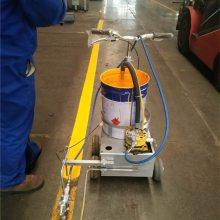 天德立吸料管式电动划线机 带电瓶充电式马路划线机