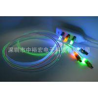 三星 htc数据线 小米数据线 安卓数据线micro usb发光线 数据线