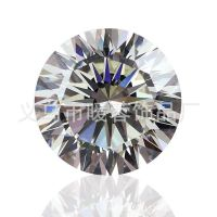 厂家直销外贸饰品蜜蜡5A水晶锆石16箭16心进口天然莫桑石锆钻裸石