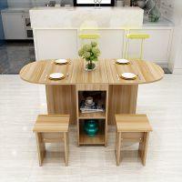 伸缩圆形餐桌椅组合折叠餐桌欧式折叠桌桌子两用小户型家用移动