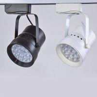 LED轨道射灯3w7w12w18w轨道灯全套服装店背景墙COB明装吸顶导轨灯