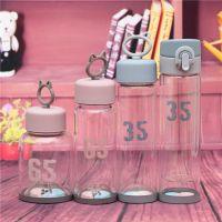 创意甜蜜蜜玻璃杯双层杯猫耳朵小清晰茶杯 送情人学生礼品批发