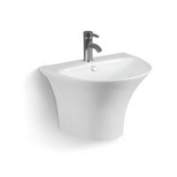 单孔白色挂墙陶瓷简约款洗手盆洗脸盆