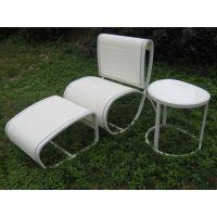 藤编厂家饭店餐桌椅 咖啡厅餐桌椅 铝合金桌椅家用桌椅 配套来图定制