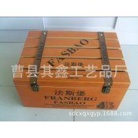 现货红酒木箱低价供应 定做烤漆木箱包装仿古木箱