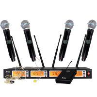 无线麦克风U-850一拖四U段无线话筒 舞台演出KTV话筒