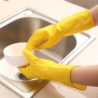 加厚家务洗碗洗衣清洁橡胶手套单杯贴手款家务手套爱花手套地摊