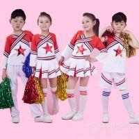 新款儿童演出服啦啦操演出服装少儿拉拉队服小学生体操舞蹈表演服