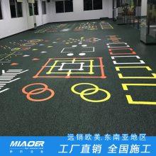 青阳健身房专用地胶运动场工程
