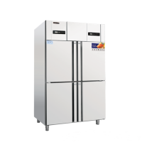 冰立方商用冰柜RF4 COOLMES四门双温冷柜 美厨直冷冰箱
