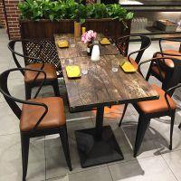 复古经济型餐馆餐桌椅饭店火锅店主题餐厅桌椅组合