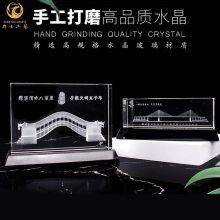 武汉大楼落成纪念品,办公大厦水晶模型定制,水晶内雕建筑物礼品批发
