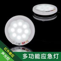 红外人体感应 声光控 智能多功能感应LED应急灯吸顶灯