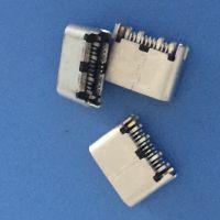 USB 3.1 TYPE-C 母座 夹板0.9 外露6.0 24P 铆合拉伸 锯齿pin