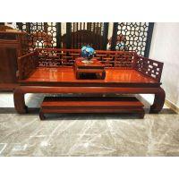 中国红木家具十大品牌实木古典中式罗汉床3件套
