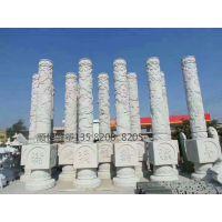 石雕图腾柱 花岗岩十二生肖石柱 文化柱浮雕 大型厂家定制