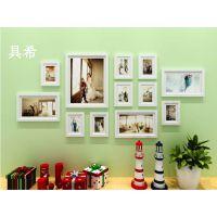淘宝热销经典款 亮黑亮白线条12框 地中海照片墙  创意组合相框墙