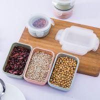 塑料迷你小饭盒厨房收纳盒长方形圆形密封盒便当盒食品冰箱保鲜盒