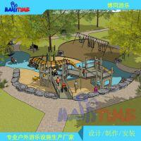 室外儿童主题拓展乐园设备定制,大型户外游乐场整体规划设计