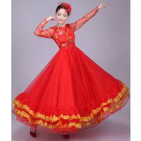 开场舞大摆裙演出服女成人新款现代舞蹈服装中老年大合唱伴舞长裙