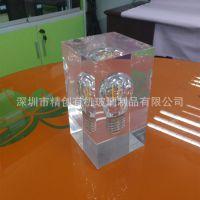 工厂定制 有机玻璃工艺品 透明亚克力内埋展牌 各种高档展示道具