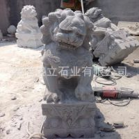 供应动物雕塑石狮子山东石头狮子厂家青石镇宅狮子