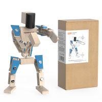 小也兔原创木制机器人玩具摆件圣诞礼物儿童DIY拼装玩具雷霆战警