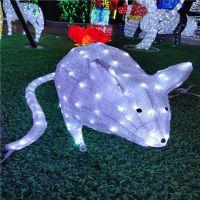 2019新款滴胶动物造型灯 鼠年大吉 小白鼠造型灯 LED灯光节装饰灯