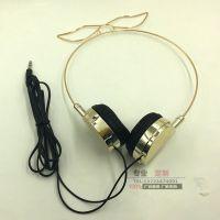 专业生产电镀头戴式耳机 发夹耳机 重低音立体声耳机