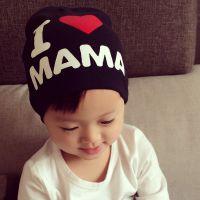双层可爱韩版潮宝宝套头帽 我爱爸爸妈妈宝宝帽子胎帽 厂家直销