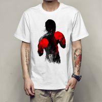 欧美潮款拳击手印花男士T恤夏季新款青少年休闲圆领短袖T恤衫