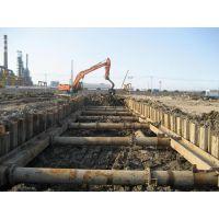 上海高东镇三一打桩机施工租赁高东镇拉森钢板桩打拔支护.水泥桩打拔全回转套管清障拔桩