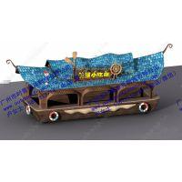 海盗船造型售卖亭,爆米花售货车,移动小卖部摊位,夜市小吃车