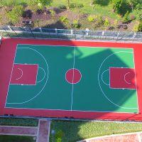 珠海1.5mm厚丙烯酸球场材料批发 户外篮球场羽毛球场施工画线