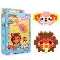 儿童新款水粘珠神奇魔珠创意免烫拼拼豆diy带模具喷水豆益智玩具